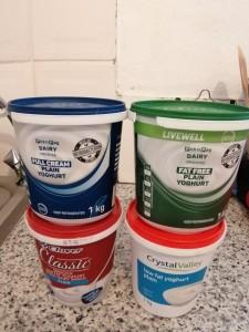 Guess which tub has yoghurt?